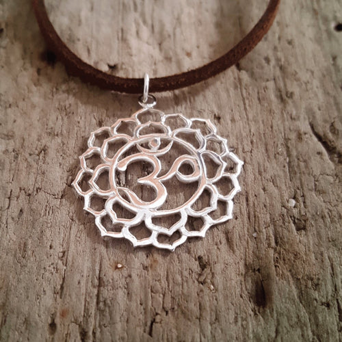 Silver Crown Chakra Pendant-Pure People