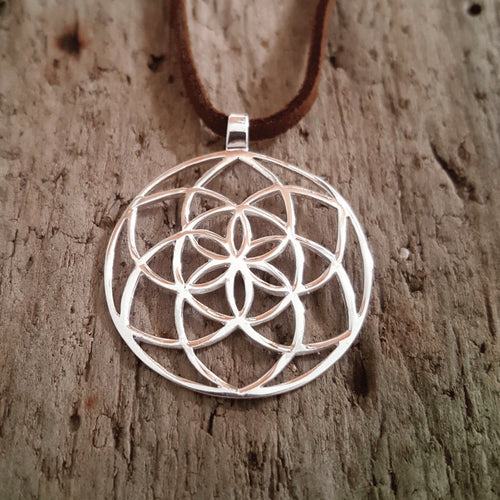 Silver Seed of Life Pendant-Pure People