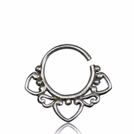 Silver 3 Pointed Septum Ring