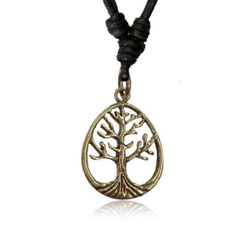 Brass Tree of Life Pendant (Small)-Pure People
