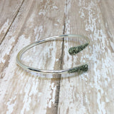 Raw Pyrite Bangle Cuff Bracelet Silver Plated - Glam Geek