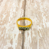 Raw Pyrite Minimalist Stacking Ring - Glam Geek