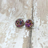 Tiny Faux Druzy Stud Earrings 8mm - Stud Earrings -Glam Geek