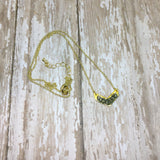 Raw Pyrite Chevron Arrow Gold Plated Pendant Necklace - Glam Geek