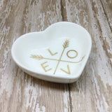 Magenta Pink or Gold Love and Arrows Heart Ring Dish - Glam Geek
