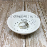 Gold or Silver Confetti Round Ring Dish - Glam Geek
