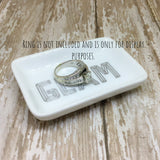 Gold or Silver Glam Rectangle Ring Dish - Ring Dish -Glam Geek
