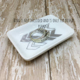 Gold or Silver Chevron Ring Dish - Glam Geek