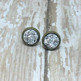 Tiny Faux Druzy Stud Earrings 8mm - Glam Geek