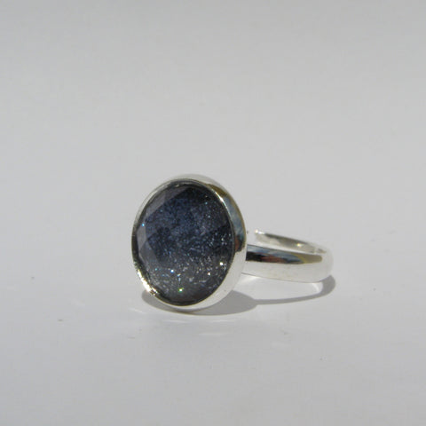 Small Glittery Faceted Ring 12mm - Glam Geek
