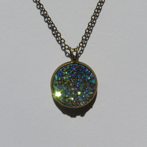 Big Clear Faux Druzy Pendant 16mm - Pendants -Glam Geek