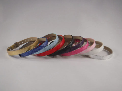 Faux Leather Buckle Bracelets for Slider Charms - Bracelets -Glam Geek