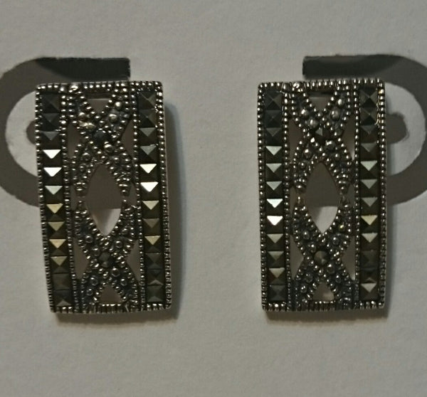 Sterling Silver/Marcasite Post Earrings
