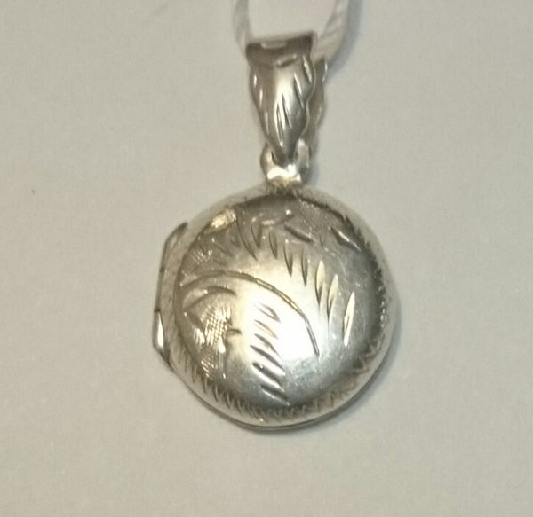 Sterling Silver Small Floral Design Charm/Locket