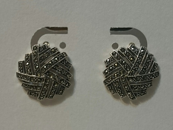 Sterling Silver/Marcasite Designer Earrings