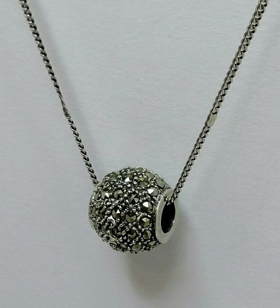 Sterling Silver Chain with Marcasite Charm