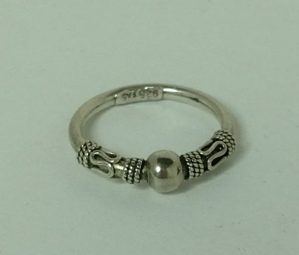 Sterling Silver Coiled Bali Ring