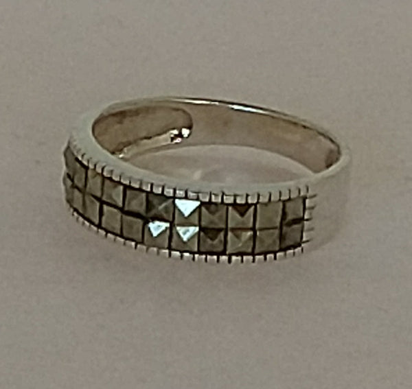 Sterling Silver and Marcasite Band Ring
