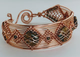 Copper Bracelet with Jasper Stones