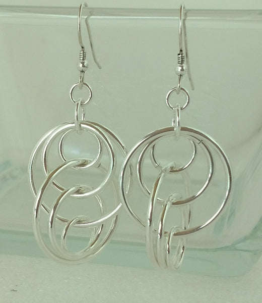 Double Deja Vu Earrings - Sterling Silver