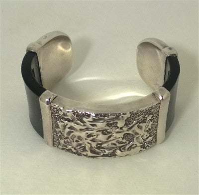 Antique Sterling Silver Cuff Bangle Bracelet