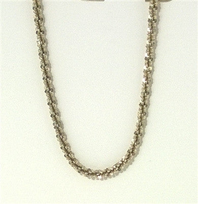 Tuscany IBB Sterling Silver Diamond Cut Rope Chain Necklace