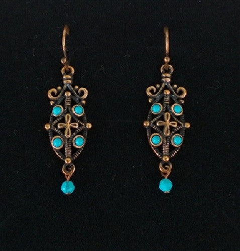 "Copper with Turquoise ""Rainie"" Earrings"