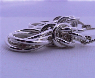 "Byzantine ""Love Knot"" Earrings - Sterling Silver"