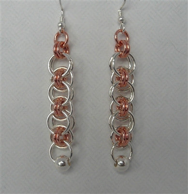 """Helm""  Chainmaille Earrings"