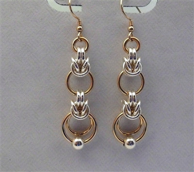 """Interrupted"" Byzantine Earrings - Sterling Silver - Gold Filled"