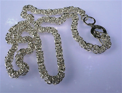Sterling Silver Filled Byzantine Necklace