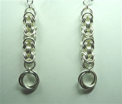 """Love Knot Drop"" Chainmaille Earrings"