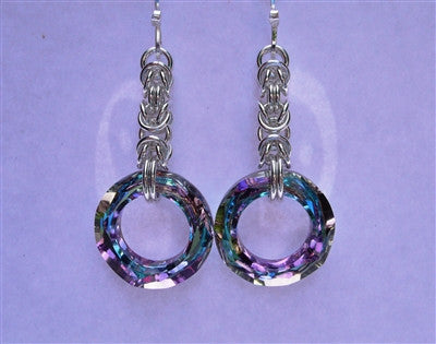 "Vitrail ""Lavish"" Chainmaille Earrings"