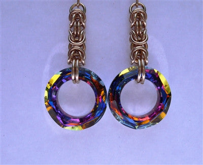 """Volcano"" Mammoth Chainmaille Earrings"