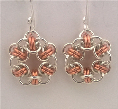 Barrel Hoop Chainmaille Earrings