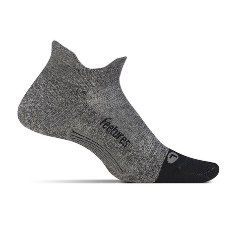 feetures ELITE LIGHT CUSHION NO-SHOW TAB- GREY