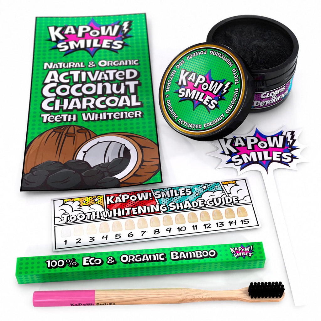 Activated Coconut Charcoal Polish (+ Free Bamboo Toothbrush)