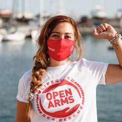 Eco Mask Open Arms Adulto - Red - 50 Lavados - European Specification CWA 17553:2020