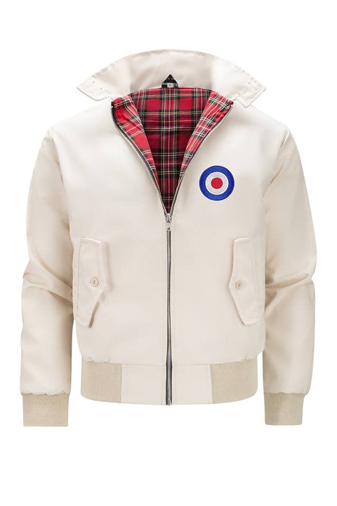 Classic Harrington Jacket - Beige (with MOD badge)