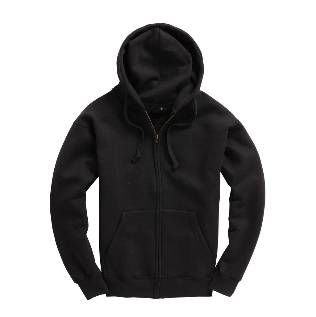 Mens Zip Up Premium Hoodie - Black