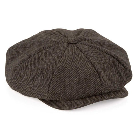 Adult Baker Boy Cap - Brown
