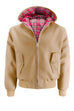 Mens Hooded Harrington Jacket - Camel