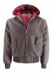 Mens Hooded Harrington Jacket - Grey