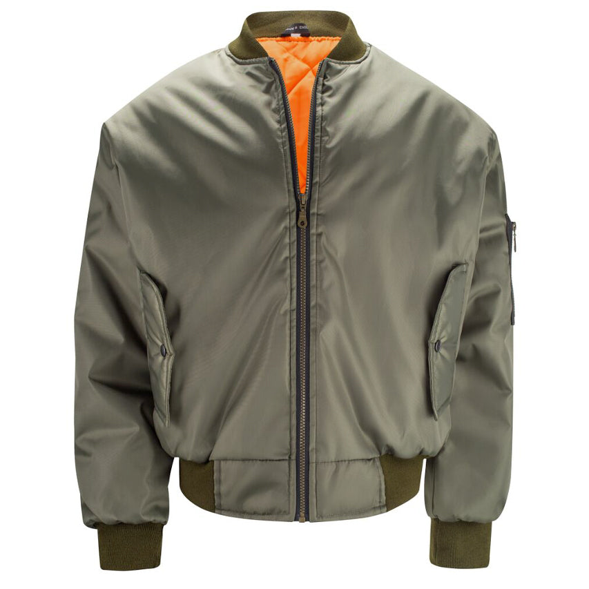 Mens MA1 Flight Bomber Jacket - Olive