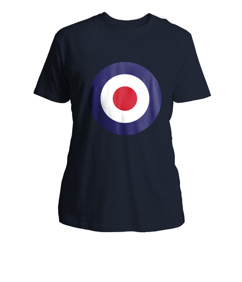 Mens Mod Target T-Shirt (Front Chest) - Navy