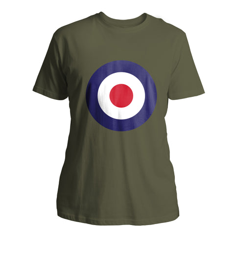 Mens Mod Target T-Shirt (Front Chest) - Olive