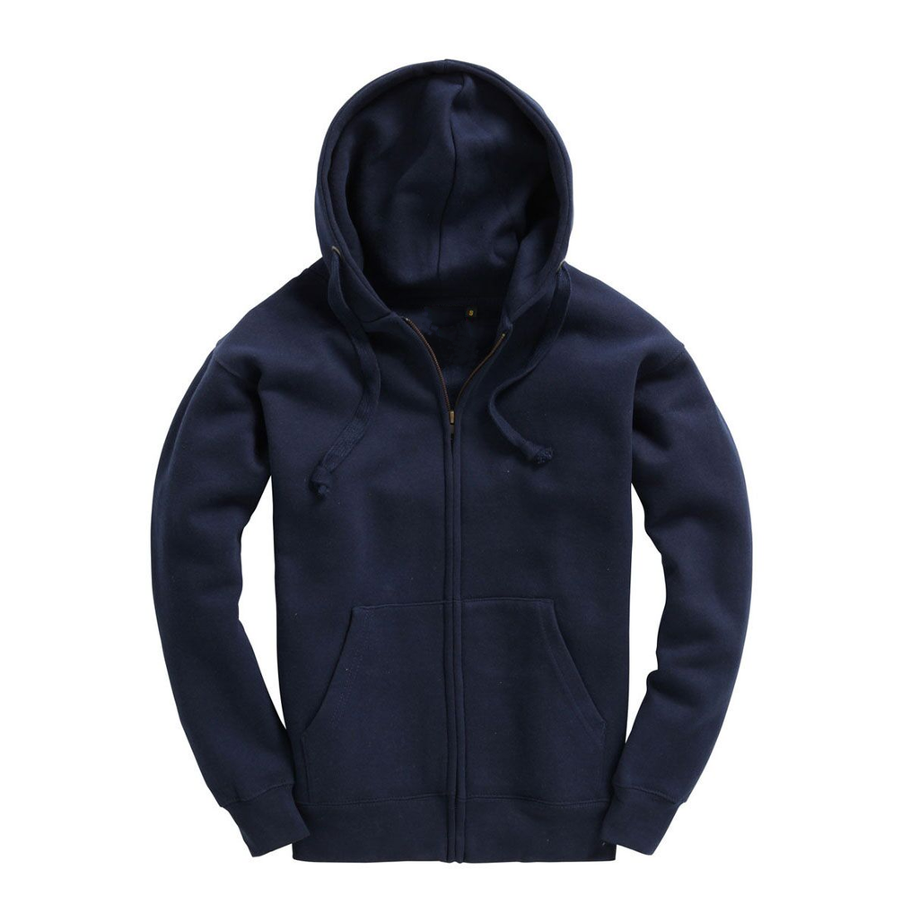 Mens Zip Up Premium Hoodie - Navy