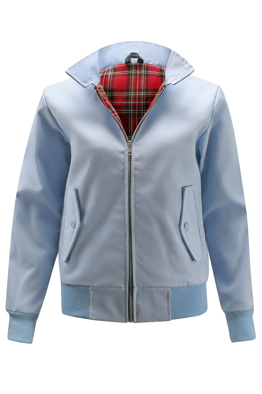 Womens Classic Harrington Jacket - Light Blue