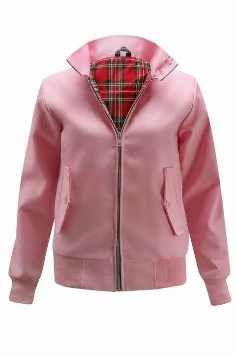 Womens Classic Harrington Jacket - Pink