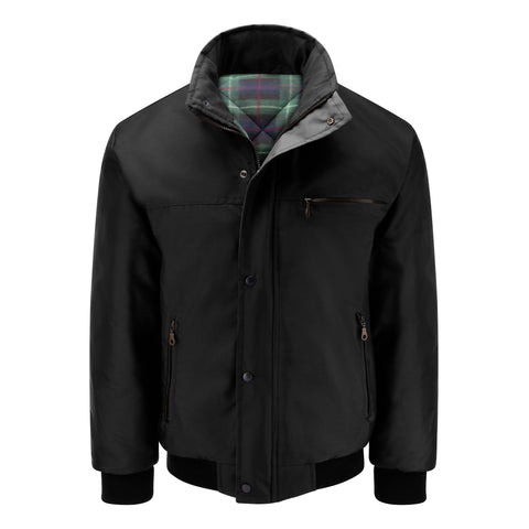 Mens Sky Diver Padded Bomber Jacket - Black